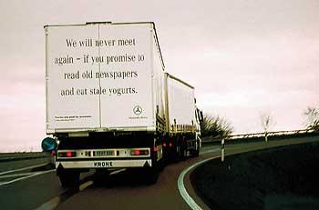 Мы больше никогда не встретимся, если вы обещаете читать старые газеты и есть просроченный йогурт